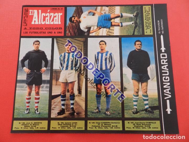 Álbum de fútbol completo: COLECCION COMPLETA CROMOS EL ALCAZAR LIGA 67/68 SIN PEGAR 1967/1968 - INCLUYE LAMINA COMPLEMENTARIA - Foto 28 - 88855064