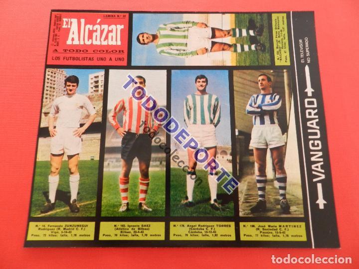 Álbum de fútbol completo: COLECCION COMPLETA CROMOS EL ALCAZAR LIGA 67/68 SIN PEGAR 1967/1968 - INCLUYE LAMINA COMPLEMENTARIA - Foto 33 - 88855064