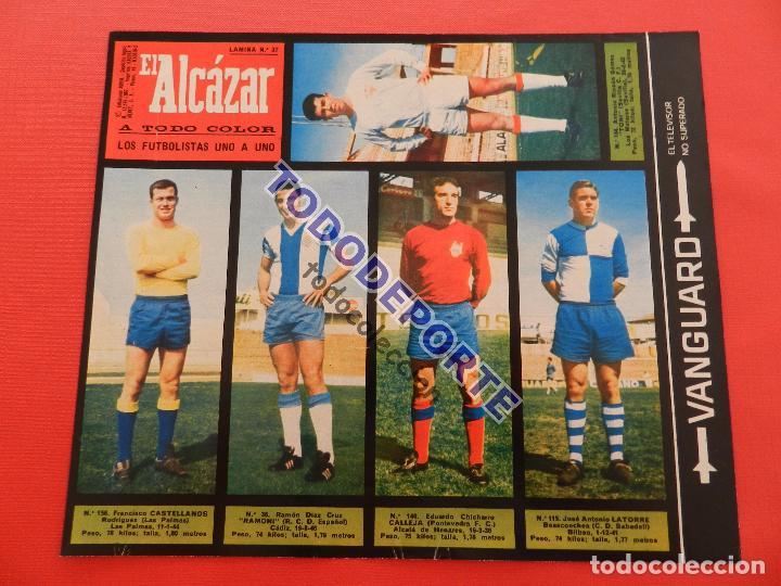 Álbum de fútbol completo: COLECCION COMPLETA CROMOS EL ALCAZAR LIGA 67/68 SIN PEGAR 1967/1968 - INCLUYE LAMINA COMPLEMENTARIA - Foto 38 - 88855064