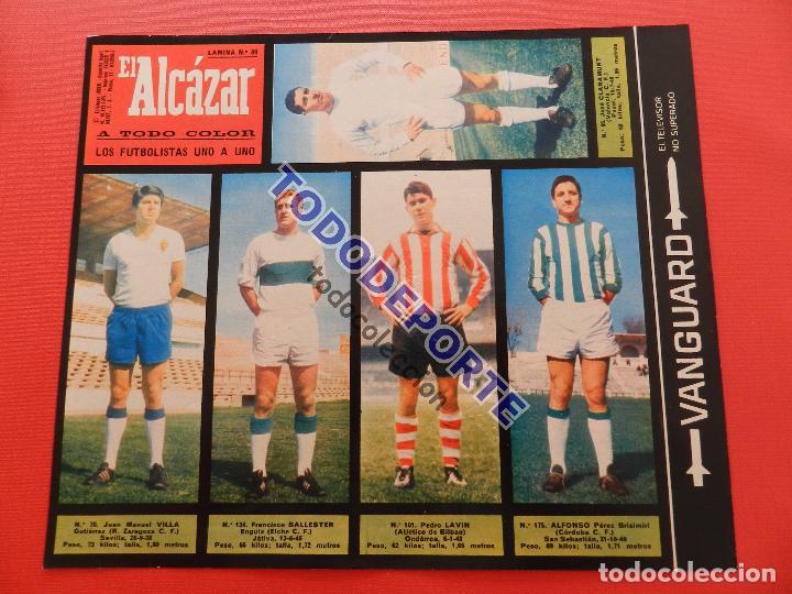 Álbum de fútbol completo: COLECCION COMPLETA CROMOS EL ALCAZAR LIGA 67/68 SIN PEGAR 1967/1968 - INCLUYE LAMINA COMPLEMENTARIA - Foto 40 - 88855064