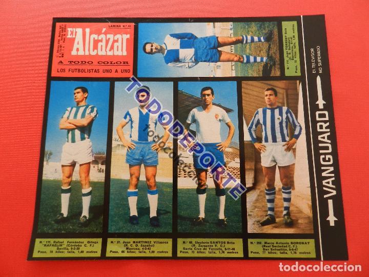 Álbum de fútbol completo: COLECCION COMPLETA CROMOS EL ALCAZAR LIGA 67/68 SIN PEGAR 1967/1968 - INCLUYE LAMINA COMPLEMENTARIA - Foto 42 - 88855064