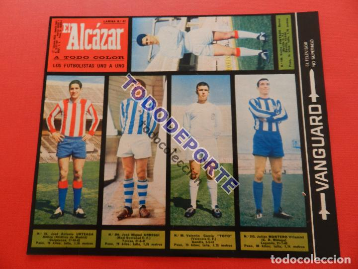 Álbum de fútbol completo: COLECCION COMPLETA CROMOS EL ALCAZAR LIGA 67/68 SIN PEGAR 1967/1968 - INCLUYE LAMINA COMPLEMENTARIA - Foto 43 - 88855064