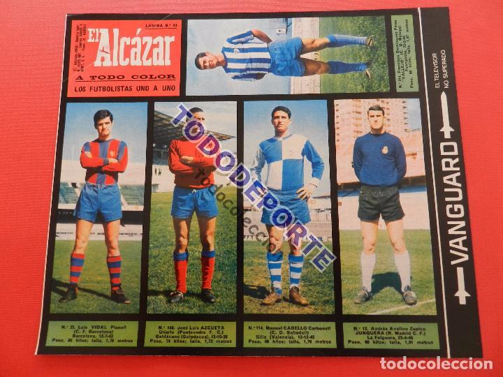 Álbum de fútbol completo: COLECCION COMPLETA CROMOS EL ALCAZAR LIGA 67/68 SIN PEGAR 1967/1968 - INCLUYE LAMINA COMPLEMENTARIA - Foto 44 - 88855064