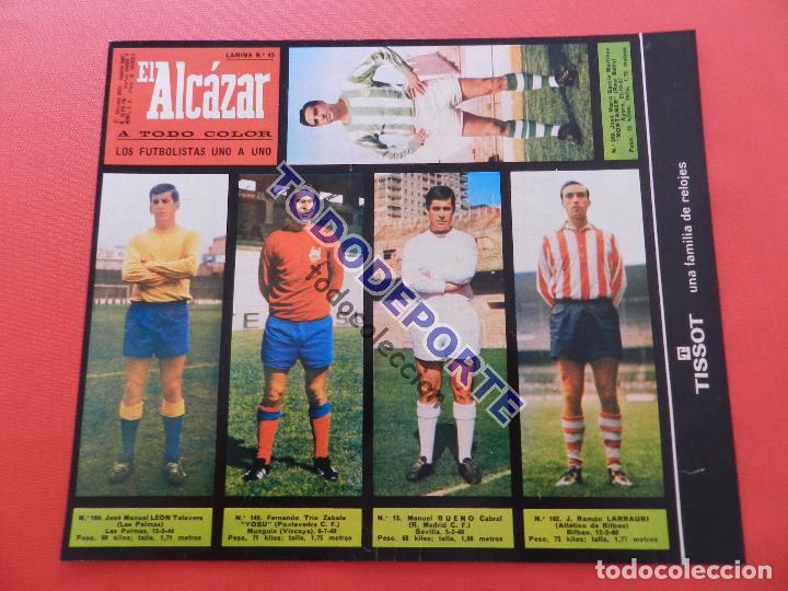 Álbum de fútbol completo: COLECCION COMPLETA CROMOS EL ALCAZAR LIGA 67/68 SIN PEGAR 1967/1968 - INCLUYE LAMINA COMPLEMENTARIA - Foto 46 - 88855064