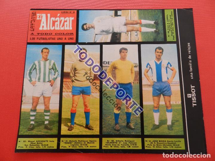 Álbum de fútbol completo: COLECCION COMPLETA CROMOS EL ALCAZAR LIGA 67/68 SIN PEGAR 1967/1968 - INCLUYE LAMINA COMPLEMENTARIA - Foto 47 - 88855064