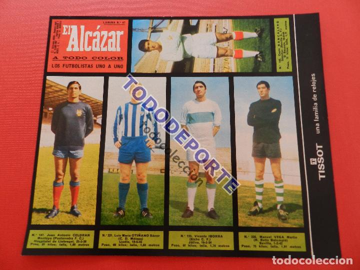 Álbum de fútbol completo: COLECCION COMPLETA CROMOS EL ALCAZAR LIGA 67/68 SIN PEGAR 1967/1968 - INCLUYE LAMINA COMPLEMENTARIA - Foto 48 - 88855064