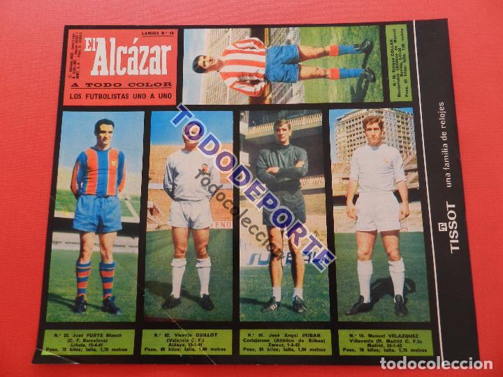 Álbum de fútbol completo: COLECCION COMPLETA CROMOS EL ALCAZAR LIGA 67/68 SIN PEGAR 1967/1968 - INCLUYE LAMINA COMPLEMENTARIA - Foto 49 - 88855064