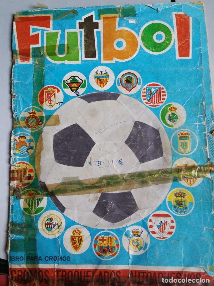 ALBUM CROMOS FUTBOL MAGA 1975-1976. MUY TOCADO. COMPLETO. VER FOTOS (Coleccionismo Deportivo - Álbumes y Cromos de Deportes - Álbumes de Fútbol Completos)