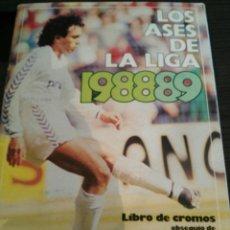 Álbum de fútbol completo: ÁLBUM DE FÚTBOL LOS ASES DE LA LIGA 1988 89. Lote 92319843