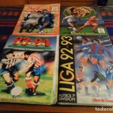 Álbum de fútbol completo: ESTE LIGA 92 93, 93 94, 96 97 Y 2010 2011 COMPLETO CON MUCHO DOBLE Y COLOCA. REGALO ASES LIGA 86 87 . Lote 90984795