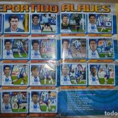 Álbum de fútbol completo: ALBUM CROMOS FUTBOL ESTE 05 06. 2005 2006. TODOS LOS FICHAJES + COLOCAS Y BAJAS. Lote 91587065