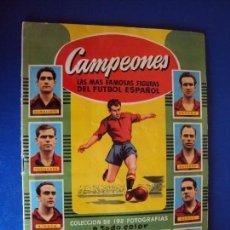 Álbum de fútbol completo: (AL-170715)ALBUM DE CROMOS CAMPEONES LAS MAS FAMOSAS FIGURAS DEL FUTBOL ESPAÑOL 1953 - 54.COMPLETO. Lote 93251650