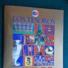Álbum de fútbol completo: ALBUM LOS TESOROS DEL BARCA EL MUNDO DEPORTIVO 1899-1999 F.C. BARCELONA COMPLETO . Lote 94208355