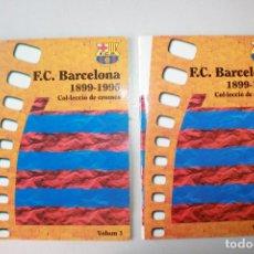 Álbum de fútbol completo: ÀLBUM DE CROMOS FUTBOL CLUB BARCELONA, 1899-1995, 2 VOLÚMES, COMPLETOS, BUEN ESTADO, ED. PLA DE LLAC. Lote 95523127