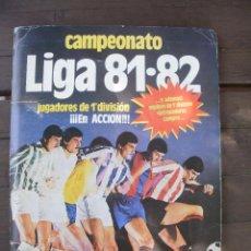Álbum de fútbol completo: ALBUM LIGA ESTE 81-82 COMPLETO CON CROMOS DIFICILES. Lote 95605603