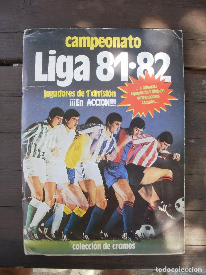 ALBUM LIGA ESTE 81-82 COMPLETO CON CROMOS DIFICILES (Coleccionismo Deportivo - Álbumes y Cromos de Deportes - Álbumes de Fútbol Completos)