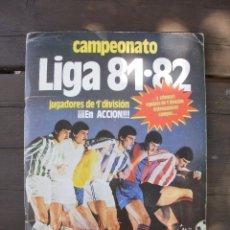 Álbum de fútbol completo: ALBUM LIGA ESTE 81-82 COMPLETO CON CROMOS DIFICILES. Lote 95606455