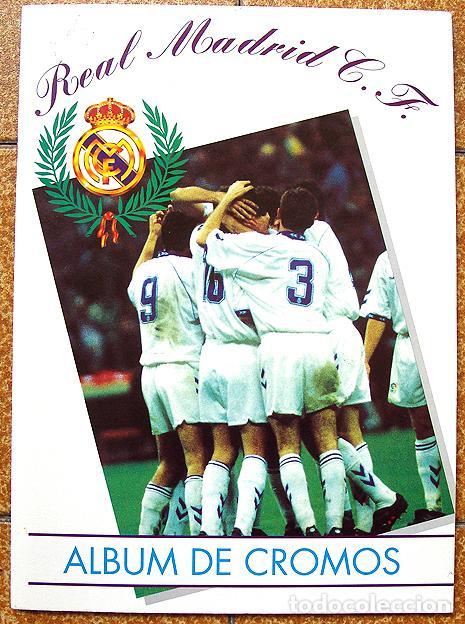 ALBUM 1994 EXCELENTE ESTADO, REAL MADRID FUTBOL Y BALONCESTO. HIMNO HISTORIA JUGADORES (Coleccionismo Deportivo - Álbumes y Cromos de Deportes - Álbumes de Fútbol Completos)