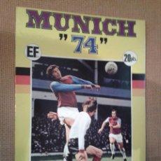 Álbum de fútbol completo: ALBUM FUTBOL MUNDIAL MUNICH 74 FHER COCA COLA COMPLETO,MUY BUEN ESTADO. Lote 97078031