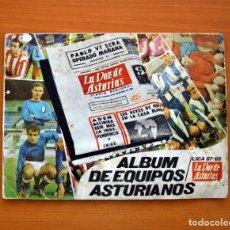 Álbum de fútbol completo: ÁLBUM DE EQUIPOS ASTURIANOS - LA VOZ DE ASTURIAS 1967 - COMPLETO . Lote 97663247