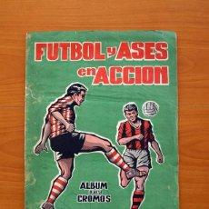 Álbum de fútbol completo: ÁLBUM FÚTBOL Y ASES EN ACCIÓN - EXCLUSIVAS TRIUNFO 1959 - COMPLETO. Lote 97761175