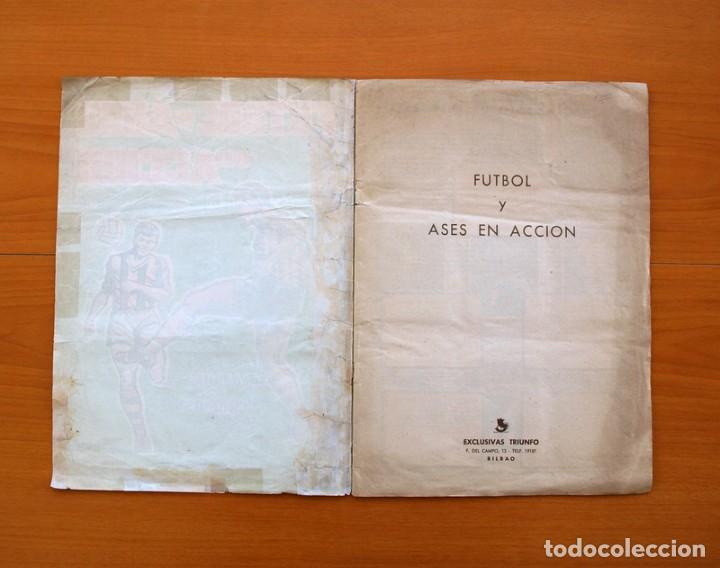 Álbum de fútbol completo: Álbum Fútbol y ases en acción - Exclusivas Triunfo 1959 - Completo - Foto 2 - 97761175