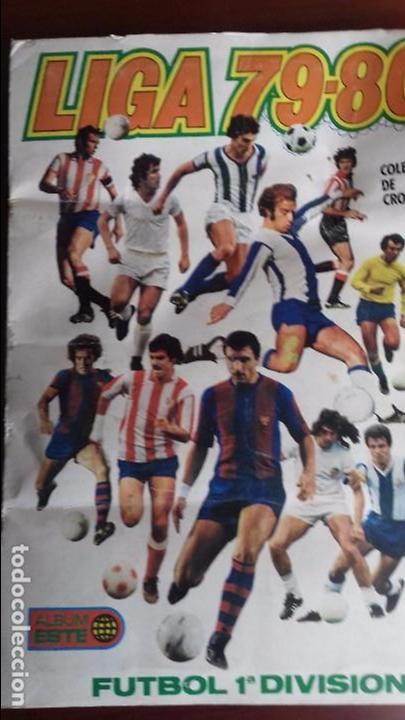 ALBUM LIGA ESTE 79-80 COMPLETO. UN CROMO POR CASILLA Y TODOS LOS FICHAJES (Coleccionismo Deportivo - Álbumes y Cromos de Deportes - Álbumes de Fútbol Completos)