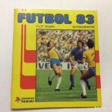 Álbum de fútbol completo: ÁLBUM FÚTBOL 83 1ª Y 2ª DIVISIÓN + SOBRE VACÍO. Lote 99339595
