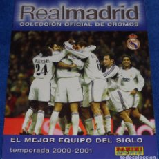 Álbum de fútbol completo: REAL MADRID 2000 2001 - PANINI ¡COMPLETO!. Lote 100171871