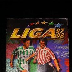 Álbum de fútbol completo: LIGA 97 98 1997 1998 ESTE ALBUM FUTBOL COMPLETO. BUEN ESTADO. MAS DE 100 DOBLES Y MAS DE 10 TRIPLES.. Lote 100422791