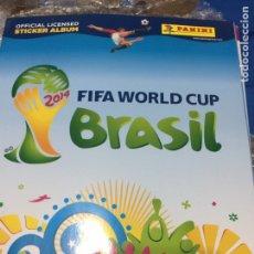 Álbum de fútbol completo: PANINI. MUNDIAL BRASIL 2014.LOTE DE 50 ÁLBUMES PLANCHA. Lote 101368556