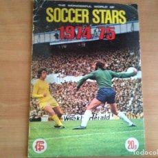 Álbum de fútbol completo: ALBUM CROMOS COMPLETO FUTBOL SOCCER STARS INGLATERRA 1974 1975 74 75 ED FKS. Lote 102623959