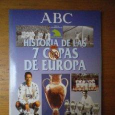 Álbum de fútbol completo: ALBUM COMPLETO HISTORIA DE LAS 7 COPAS DE EUROPA REAL MADRID. Lote 103147311