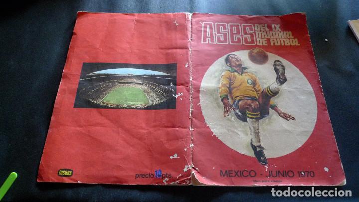 DIFICILISMO ALBUM CROMOS ASES IX MUNDIAL FUTBOL MEXICO JUNIO 1970 COMPLETO EN DISGRA (Coleccionismo Deportivo - Álbumes y Cromos de Deportes - Álbumes de Fútbol Completos)