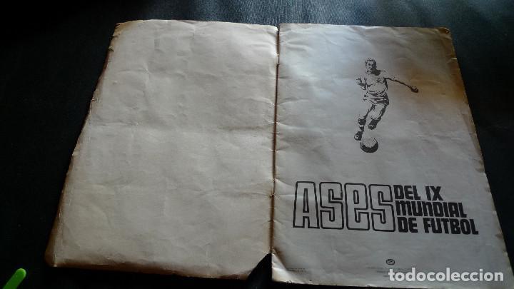 Álbum de fútbol completo: DIFICILISMO ALBUM CROMOS ASES IX MUNDIAL FUTBOL MEXICO JUNIO 1970 COMPLETO EN DISGRA - Foto 2 - 103686823
