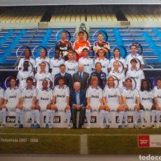 Álbum de fútbol completo: ÁLBUM COMPLETO DE CHAPAS DEL REAL MADRID PLANTILLA TEMPORADA 2007/2008. Lote 135517242