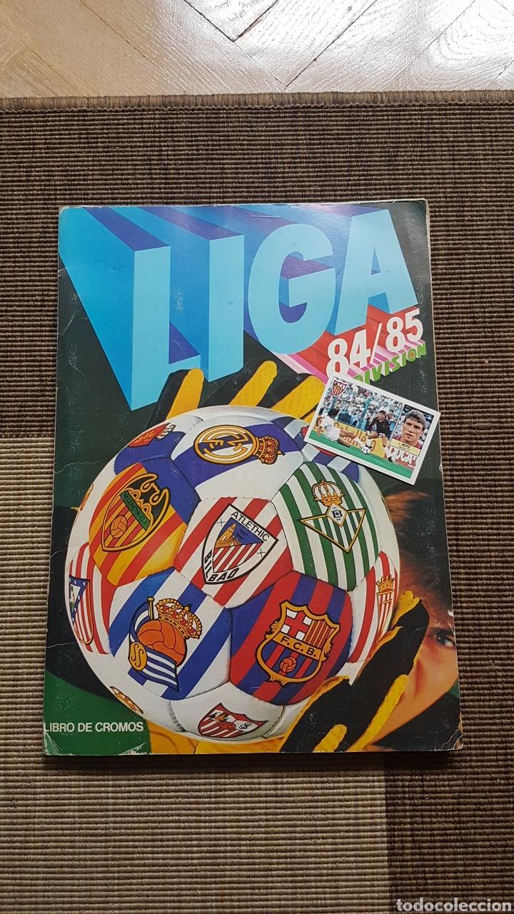 ÁLBUM COMPLETO LIGA ESTE 84 85 1984 1985 CON FRANCIS, SALVA, ADRIANO, BUYO, PATON Y DIFICILES LEER (Coleccionismo Deportivo - Álbumes y Cromos de Deportes - Álbumes de Fútbol Completos)