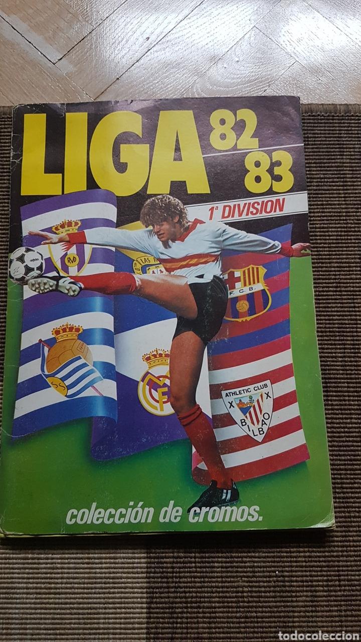 ALBUM COMPLETO LIGA ESTE 82 83 1982 1983 CON CLOS, MARADONA E ISIDRO CON PUBLICIDAD (Coleccionismo Deportivo - Álbumes y Cromos de Deportes - Álbumes de Fútbol Completos)