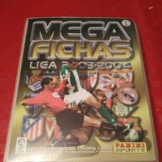 Álbum de fútbol completo: ALBUM ARCHIVADOR MEGAFICHAS 2003 04 CON 574 FICHAS. Lote 105894508