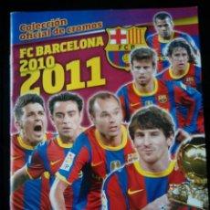 Álbum de fútbol completo: FC BARCELONA 2010 - 2011 PANINI . COLECCIÓN COMPLETA. CROMOS PEGADOS. Lote 109823955
