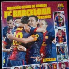 Álbum de fútbol completo: FC BARCELONA 2012 - 2013 PANINI . COLECCIÓN COMPLETA. CROMOS PEGADOS. Lote 109824447
