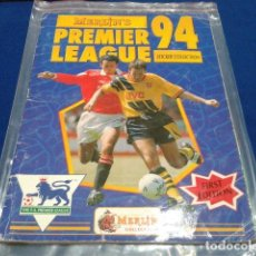 Álbum de fútbol completo: ALBUM PREMIER LEAGUE 94 MERLIN´S STRICKER COLLECTION FIRST EDITION 100% COMPLETO. Lote 109928423