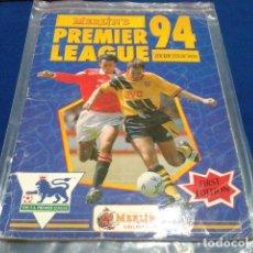 Álbum de fútbol completo: ALBUM PREMIER LEAGUE 94 MERLIN´S STRICKER COLLECTION FIRST EDITION 100% COMPLETO. Lote 109928423