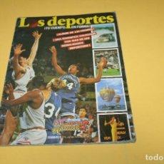 Álbum de fútbol completo: ALBUM COMPLETO LOS DEPORTES - AÑO 87. Lote 110376127