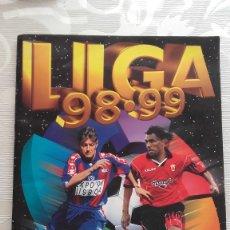 Álbum de fútbol completo: ALBUM DE CROMOS FUTBOL TEMPORADA 1998-99 OFICIAL LFP ED. ESTE. Lote 110815471