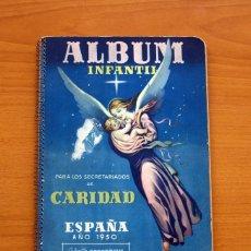 Álbum de fútbol completo: ÁLBUM INFANTIL DE FÚTBOL 1950 - SECRETARIADO DE LA CARIDAD - COMPLETO - VER FOTOS INTERIORES. Lote 111864647