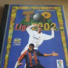 Álbum de fútbol completo: M FÚTBOL COLECCIÓN COMPLETA TOP 2002 MUNDICROMO 198 CROMOS + ÁLBUM ORIGINAL. Lote 112041215
