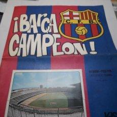 Álbum de fútbol completo: ALBUM COMPLETO PÓSTER BARÇA CAMPEÓN DE KEISA AÑO 1974 ESCASO. Lote 113204548