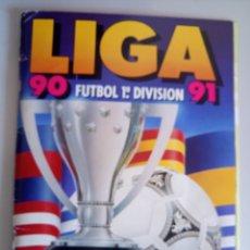 Álbum de fútbol completo: ÁLBUM COMPLETO CROMOS FÚTBOL LIGA 90 91 ESTE EDICIONES. Lote 113803879