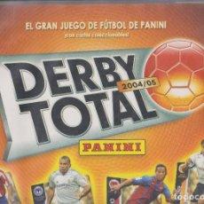 Caderneta de futebol completa: DERBY TOTAL 2004-05 -- TODOS LOS EQUIPOS COMPLETOS-- INCLUYE TAMBIÉN 24 CARTAS DEL JUEGO. Lote 113811259
